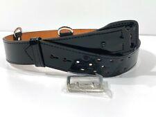 Gould Amp Goodrich Sam Browne Duty Belt Black Hi Gloss Nickel Buckle D Rings 34