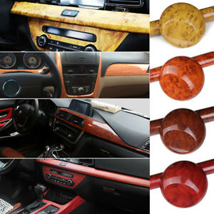 Image Is Loading Glossy Car Interior Wood Grain Textured Vinyl Wrap