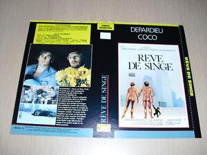 JAQUETTE-VHS-Reve-de-singe-Ciao-Maschio-Gerard-Depardieu-Marcello-Mastroianni