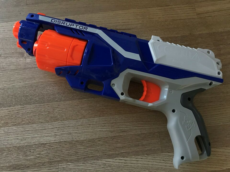 Våben, Nerf Elite Disruptor 6 skuds. SOM NY!, NERF