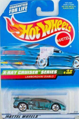 HOT WHEELS /'98 X-RAY CRUISER SERIES #946 LAMBORGHINI DIABLO 5 STAR RIM GREEN MOC