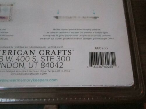 Crafter/'s Essentials ~ We R Memory Keepers ~ Precision Press Advanced Stamping