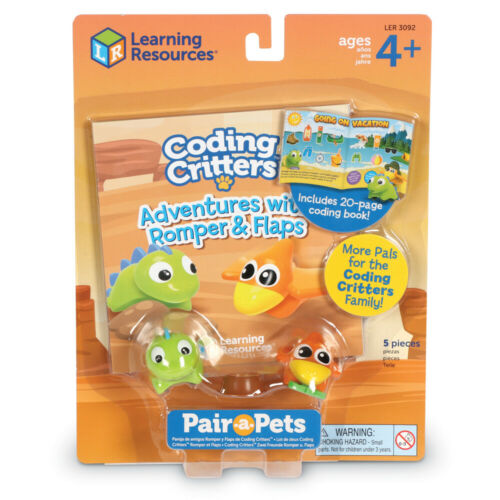 Ressources d/'apprentissage de codage CRITTERS Paire-a-Pets Ange /& Rabats avec livre