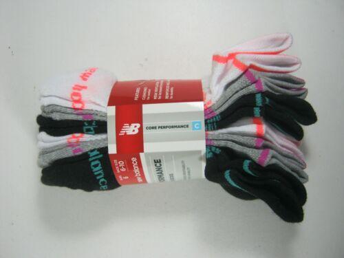 6 Pair Choose Color New Balance Women/'s No Show Socks Medium Shoe Size 6-10