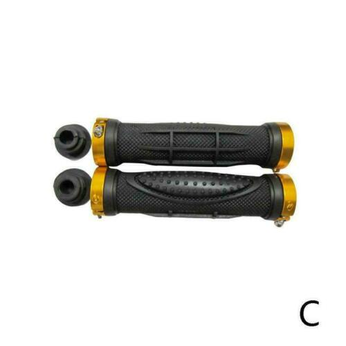 V2.1 Double Lock On Locking Bmx Mtb Mountain Bike Cycle Grips Bar Bi Y5N4.
