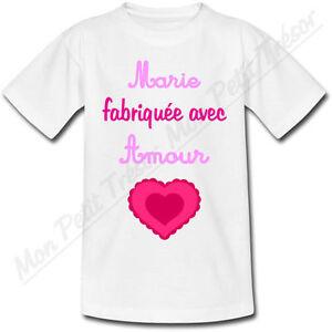 T-shirt Enfant Hérisson avec Prénom Personnalisé