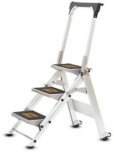 Little Giant 3 Tread Safety Step Ladder  Folding Step Stools  With Tool Tray - <span itemprop=availableAtOrFrom>UK, United Kingdom</span> - Returns accepted Most purchases from business sellers are protected by the Consumer Contract Regulations 2013 which give you the right to cancel the purchase within 14 days after the day you r - UK, United Kingdom