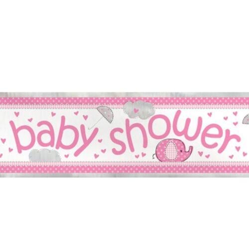 Rose Baby Shower 12 ft environ 3.66 m Foil Banner-Party Décoration Bunting mur fille éléphant
