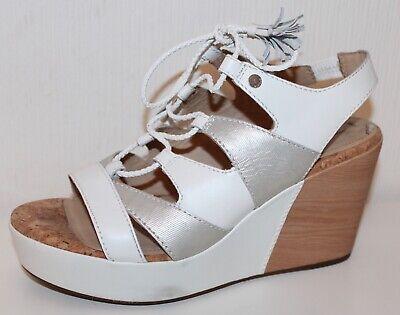 Geox Keilabsatz Sandalen Pumps High Heels Schuhe Leder 38 Uk5 Wedges Sandaletten Dinge Bequem Machen FüR Kunden