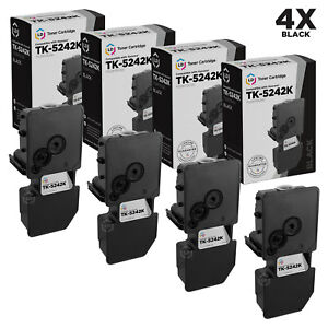 LD-Compatible-Kyocera-TK-5242K-Black-Toner-4-Pack-for-ECOSYS-M5526cdw-P5026cdw