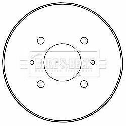 BORG /& BECK BBR7235 BRAKE DRUM fit M/'bishi Colt 06//04