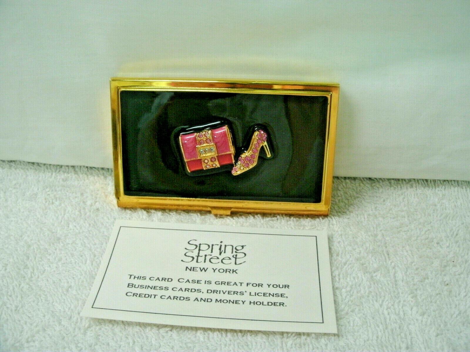 BUSINESS CARD HOLDER by Spring Street--**Shoe/Handbag** Theme---NEW