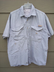 5e1ea3b5cf2 Columbia PFG Fishing Guide Shirt Sz XL Blue Vented Button Front ...