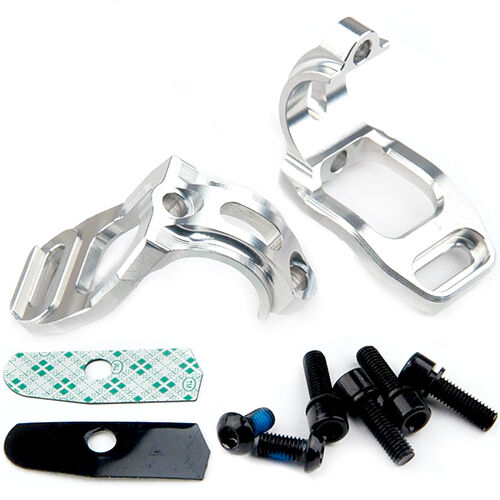 Hope Tech Brake Shifter Clamp Mount For Shimano SLX 2013 Pair Silver New