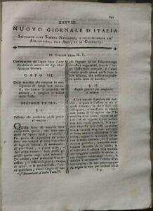 1795-NUOVO-GIORNALE-D-039-ITALIA-ARTE-DI-TOGLIERE-MACCHIE-ACCADEMIA-DI-MANTOVA