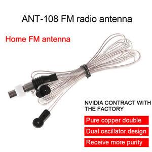 Neu-75-Ohm-Dipol-2m-Verstaerker-FM-Antenne-MD-TV-Card-Empfaenger-von-Radio