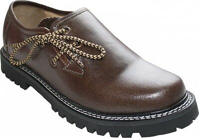 Gutherzig German Wear, Trachten Haferlschuhe Trachtenschuhe Pullup-glattleder Schuhe Braun