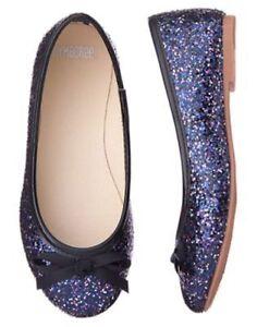 NWT GYMBOREE Pretty Poppy Silver Flats Dress shoes  SZ 9 10 11 12 13 1 2 3 Girl