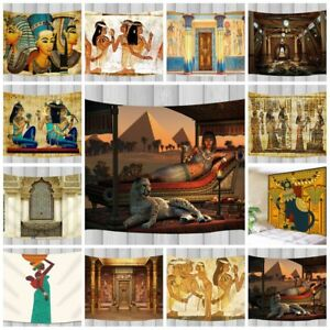 Egyptian Hall Temple Wall Hanging Decor Tapestry Bohemian Bedspread Throw Dorm