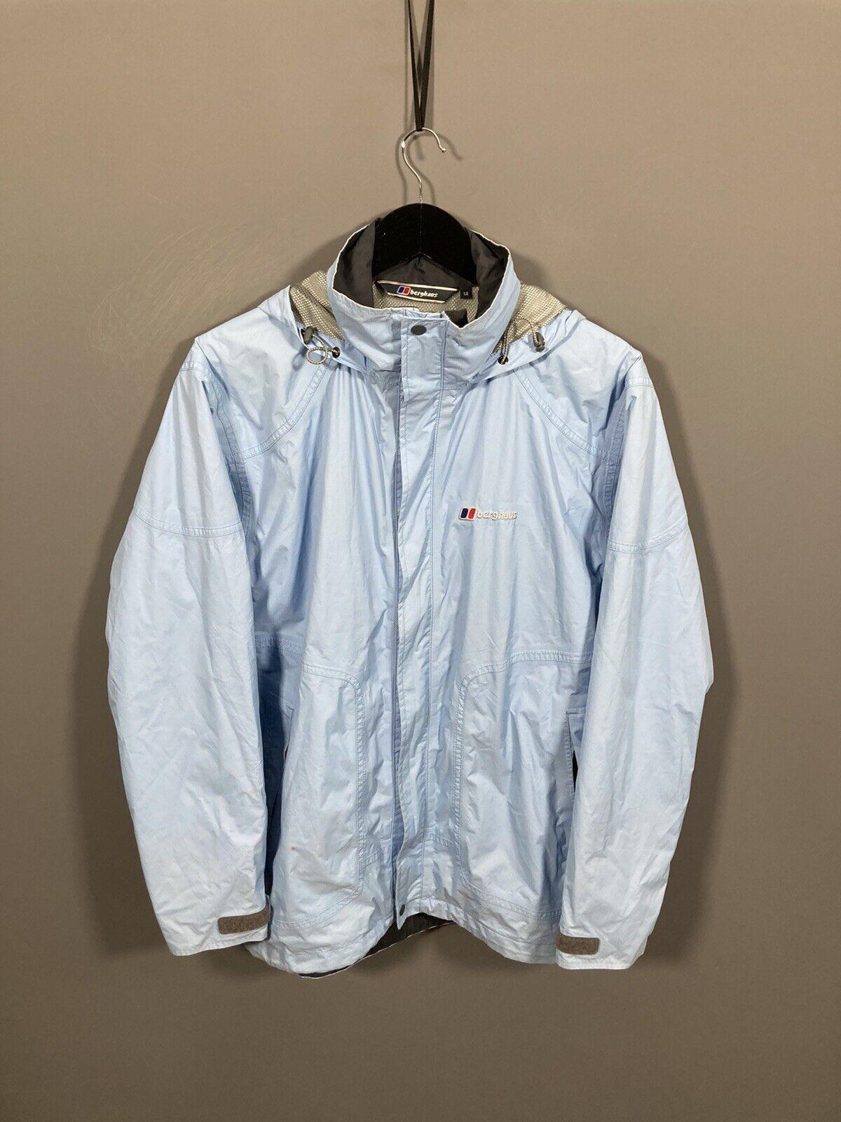 BERGHAUS AQUAFOIL Jacket - Size UK14 - Blue - Good Condition - Women's