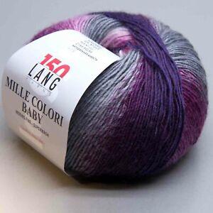 Lang Yarns Mille Colori Baby 6 Nadelstärke 3-3,5 LL 190m 50g