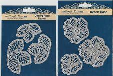 TATTERED LACE DIES ~ TLD0102 + TLD0103 ~ DESERT ROSE LEAVES & FLOWERS