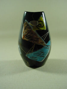 JOPEKO-Keramikvase-50er-Jahre-Blumenvase-Vase-Dekor-Ulla-handbemalt-ca-16-cm