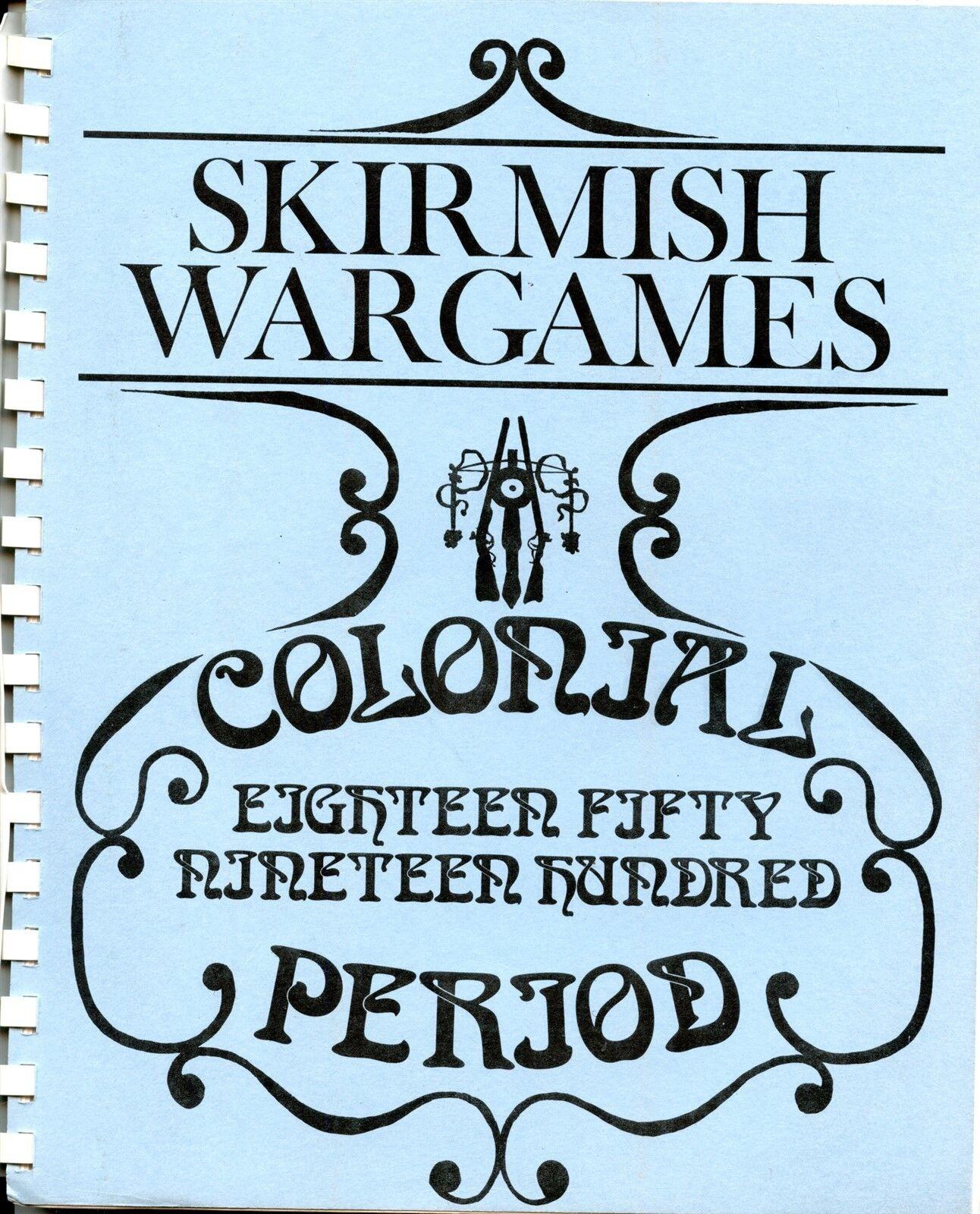 SKIRMISH WARGAMES COLONIAL PERIOD MINIATURE 1850-1900 NM