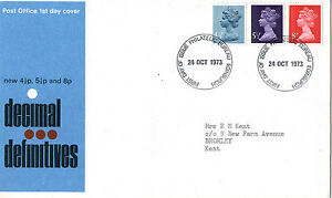 La Fourniture 24 Octobre 1973 Les 3 Valeurs Limites Bureau De Poste Premier Jour Housse Bureau Ide-afficher Le Titre D'origine