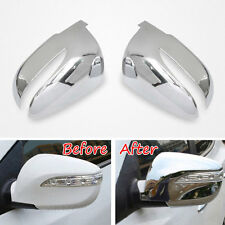 ABS Chrome Side Door Rear View Mirror Cover Decor Trim For Tucson IX35 2010-2015