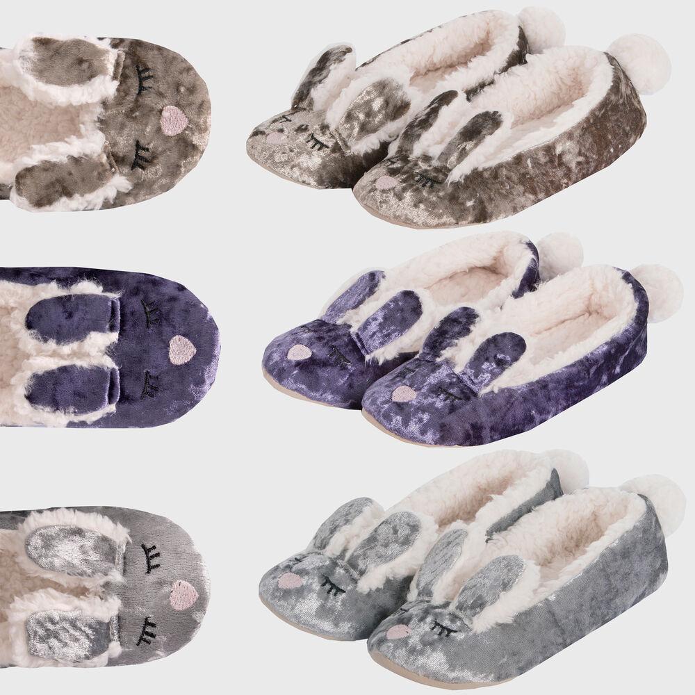 Aimable Mesdames Femmes Velours Fausse Fourrure Lapin Oreilles Slipper Textile Semelle Intérieure Confort Achat SpéCial