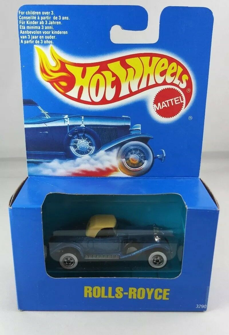 1990 hot wheels   3290 rolls - royce Weißwalls Blau card   Blau box