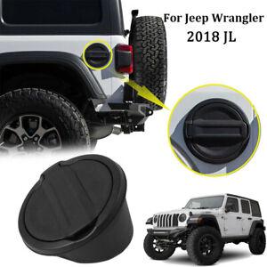 Black Fuel Filler Tank Gas Door Cover Accessories fit 2018 2019 Jeep Wrangler JL