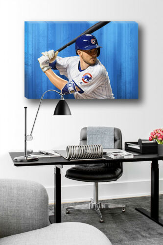Chicago Cubs Stud KRIS BRYANT Poster Photo Painting Artwork on CANVAS Wall Art