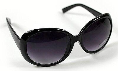 Nouveau femme noir grand cadre rétro vintage 80s ovale lunettes de soleil UV400