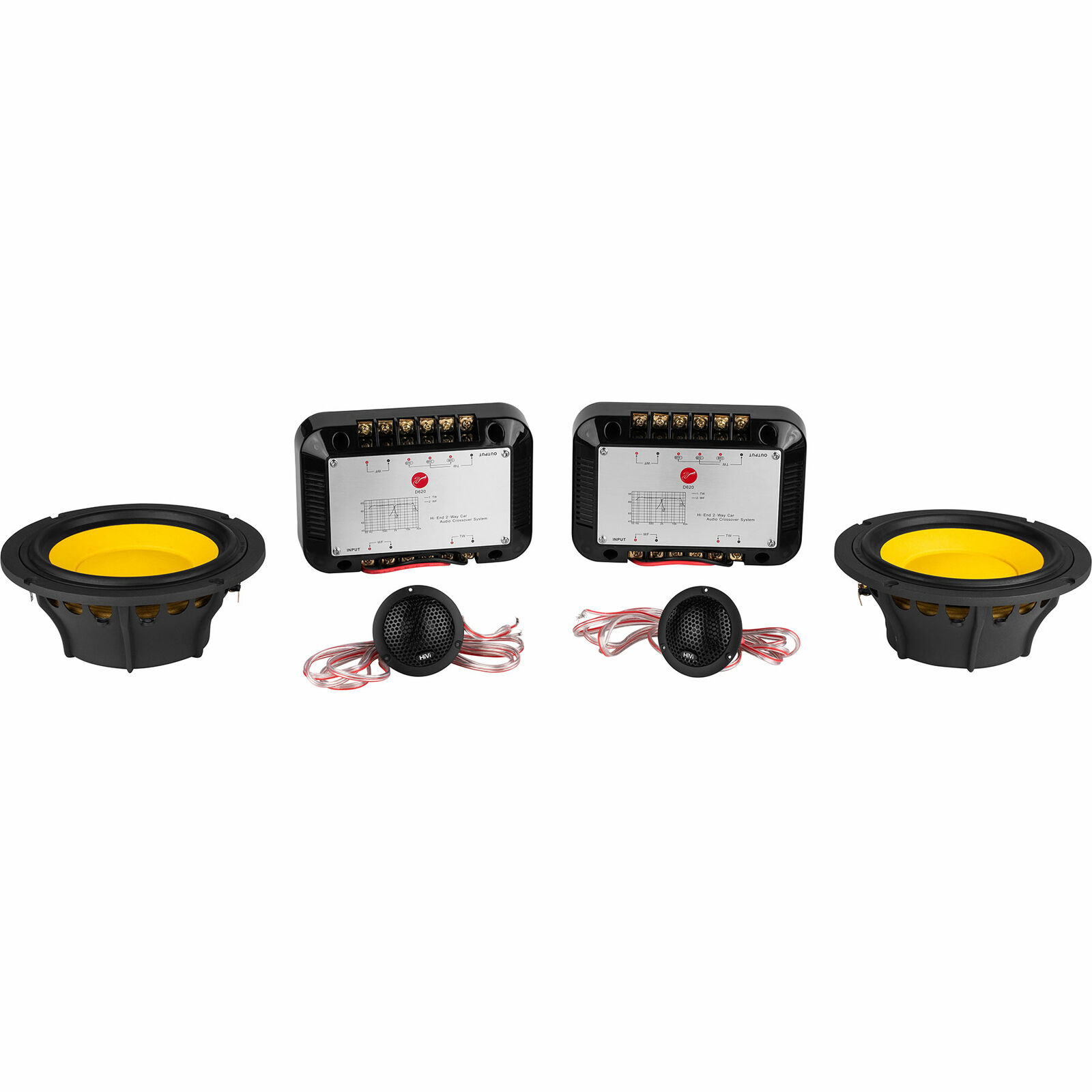 HiVi D620 6.5  2-Way Component Speaker Set
