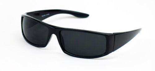 Cholo Wrap Sunglasses Gangster Black Super Dark Lens OG LOC Lowrider Style 22SD