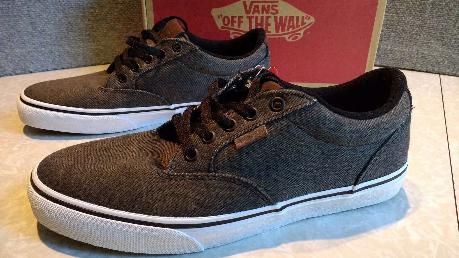 NWT,  MSRP Mens Vans Winston DX Washed Twill Lace Up shoes