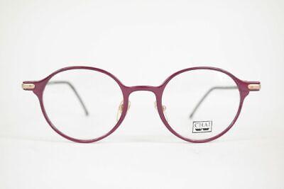 Vintage Chai L 04 47[]20 140 Violett Oval Brille Brillengestell Eyeglasses Nos