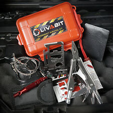 LIVABIT SOS Survival Emergency Multi Tool Fire Starter Paracord Bracelet Hiking