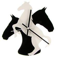 Euphyllia-Tempus Horse Theme Wall Clock 25cm White/Black (e9533whtb)
