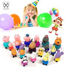 Figurenset Papa Mama Peppa Pig Schorsch Wutz Familie&Freunde Geburtstag Toy Gift