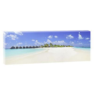 Panoramabild Leinwand Keilrahmen Meer Strand XXL 150cm* 50cm Seychellen 207