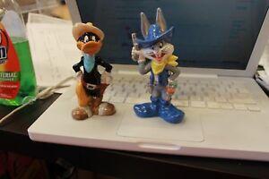 New vtg 93 BUGS BUNNY DAFFY DUCK Cowboy Looney Tunes Warner Bros Salt Pepper