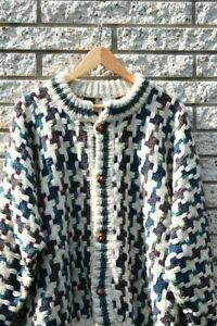 90s aztec sweaterdress  90s loose fit sweater women  90s oversize geometric pattern jumper