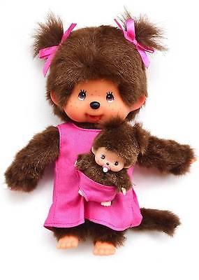 MONCHHICHI MOTHER/BABY mcc/bbcc Original Sekiguchi  Monchichi monkey Doll toy