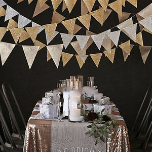 Glitter-Paper-Happy-Birthday-Hanging-Bunting-Banner-Flag-Garlands-Party-Decor