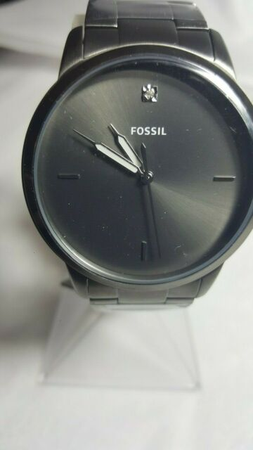 206247100 Fossil FS5455 The Minimalist Carbon Series Stainless Steel Men's Watch