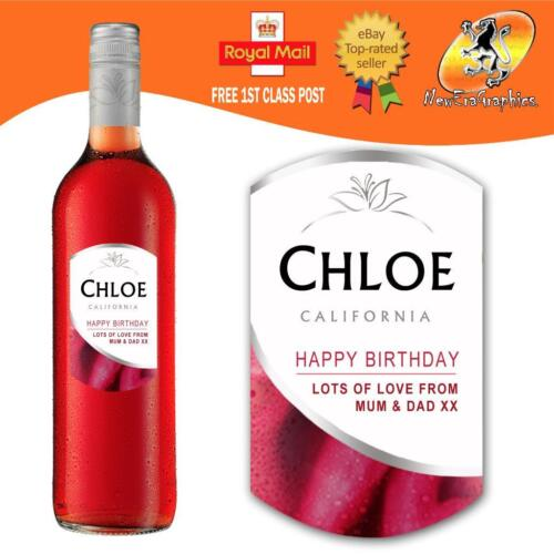 PERSONALISED ROSE WHITE RED WINE BOTTLE LABEL BIRTHDAY ANY OCCASION GIFT