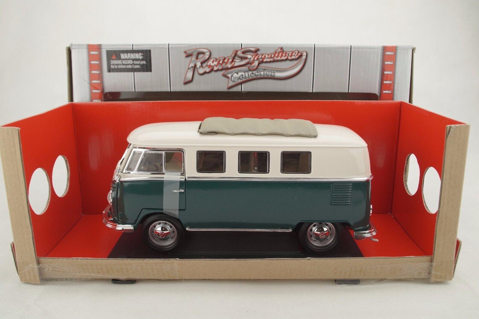 1 18 Road  Signature 1962 VOLKSWAGEN VW bus microbus vert + Sliding Sunroof Nouveau Neuf dans sa boîte  Achetez maintenant